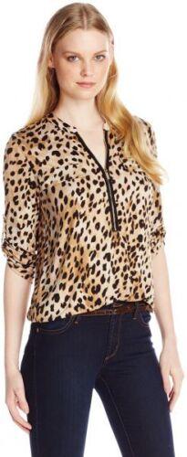 Leopard Camicetta Print Women's Taglia Xl New Wt Collezione Calvin Essential Klein L tx68ZO