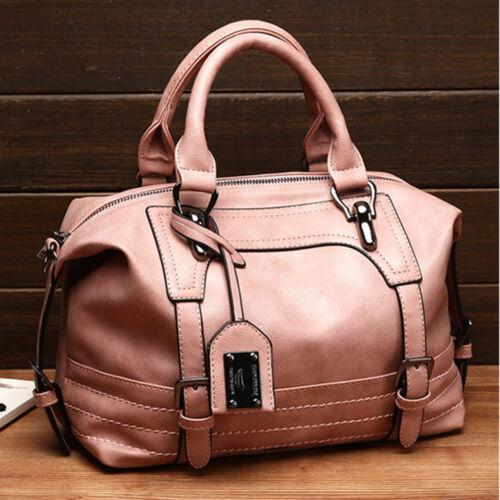 HOT Ladies Leather Handbag Ladies Messenger Shoulder Bag Tote Satchel Purse WZC
