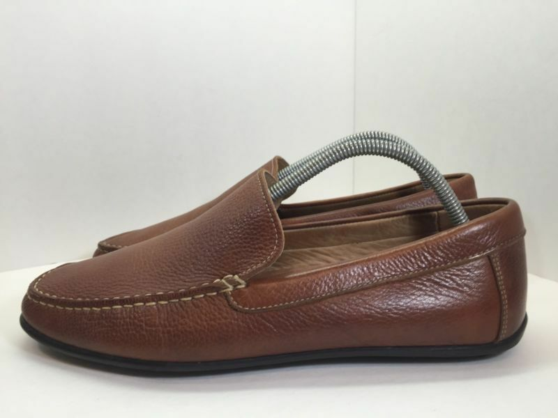 1901 Mens Brown Leather Loafers M Size 9 M Loafers 76d0f6
