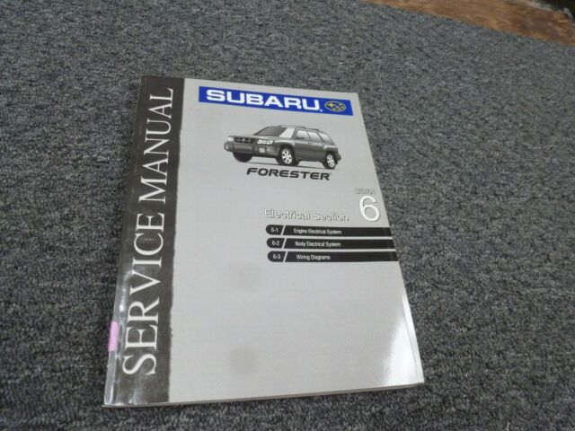 1999 Subaru Forester Electrical Wiring Diagrams Manual L S