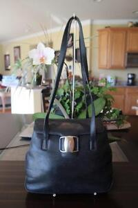 Image is loading Salvatore-Ferragamo-Shoulder-Bag-Vara-Leather-Black-AQ- da6d328b2f70e