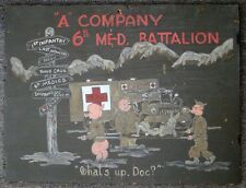 A Co., 6th Medical BN (6th Div) Bugs Bunny Sign Korean War Occupation Period