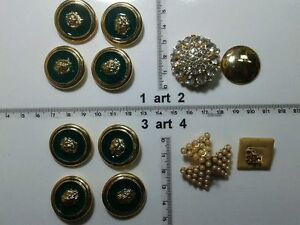 1-lotto-bottoni-gioiello-strass-smalti-perle-vetro-buttons-boutons-vintage-g13