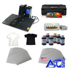 "16""x24"" heat press machine A3 size printer paper ink ciss  t-shirt Transfer Kit"