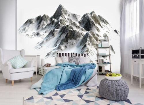 10631 -Wald Gebirge Steine Schnee Sonne Bäume Mural XXL VLIES Fototapete-ALPEN-