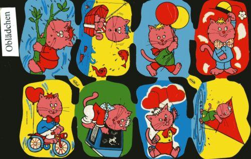 # GLANZBILDER # Krüger Serie bunter comicartiger Tiere ohne Nummer mit Logo #8