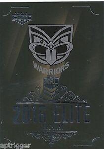 2018 NRL Elite Base Card 141 CHECKLIST Warriors