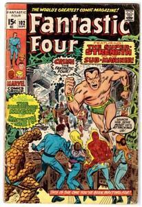 Fantastic Four #102 Last Kirby Issue Marvel Comics 1970 Good 2.0