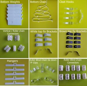 Spare-parts-Vertical-Roller-Blinds-weight-chains-cleats-connectors-brackets