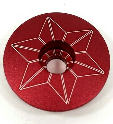 """RED XLC BICYCLE STEM CAP 1-1//8/"""" 25.4mm STAR NUT AND BOLT"""