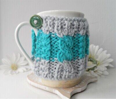 1x Crocheted Knitted Thermal Coffee Mug Tea Cup Cosy Cozy Saver Australian Made