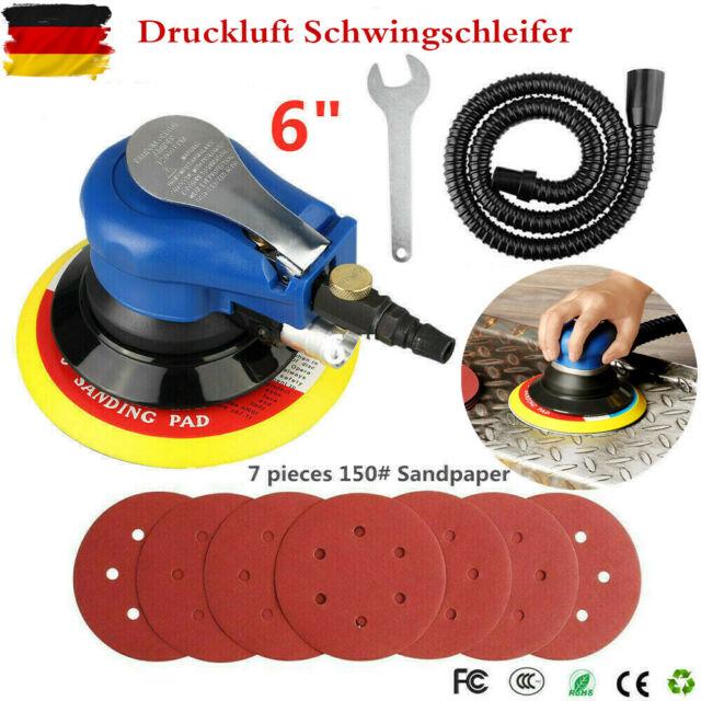 """6/"""" Druckluft Schleifer Ø150mm Excenterschleifer Schleifmaschine 10000 U//min TOLL"""