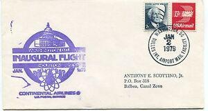 Livraison Rapide Ffc 1979 First Flight Continental Airlines Washington D.c. Houston Balboa Us Les Catalogues Seront EnvoyéS Sur Demande