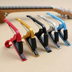Quick-Change-Clamp-Key-Capo-Aluminum-Alloy-Fits-Acoustic-Electric-Classic-Guitar