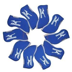 11PCS-Blue-Neoprene-Window-Mizuno-Golf-Club-Iron-Covers-HeadCovers-UK