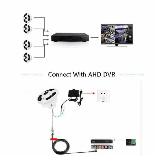 New HD AHD 1080P CCTV Camera Panoramic 360 Degree Fisheye Cam IR night vision