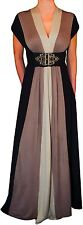 QQ2 Funfash Plus Size Dress Black Caramel Tan Women Cocktail Maxi Dress 1x 18 20