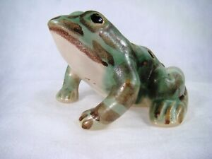 BRUSH MCCOY Art Pottery Mint! 7 Hole  Garden Figural FROG 4 1/2 inch Vintage
