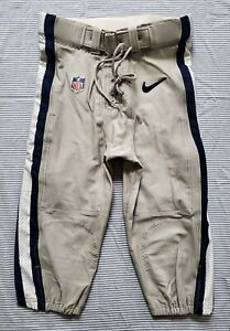 Dallas Cowboys NFL Team Issued Silver Football Pants - Size 32 w\Belt 2014