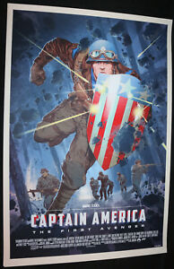 Captain-America-First-Avenger-by-Stan-amp-Vince-MONDO-Screen-Print-EX-2016