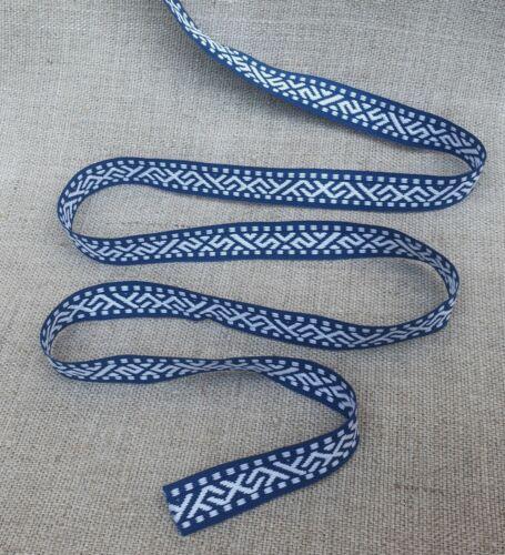 Color Azul Blanco Cinta con letón tradicional etnográfico nuevo jumis signos