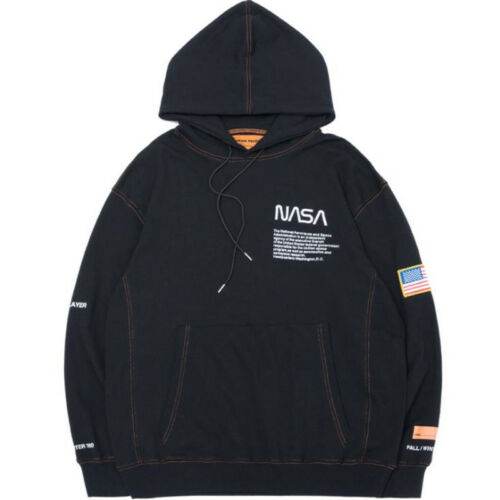 La NASA Heron Preston Lovers Sweat à capuche astronaute Pull Noir//Blanc//Rouge Fashion Tops