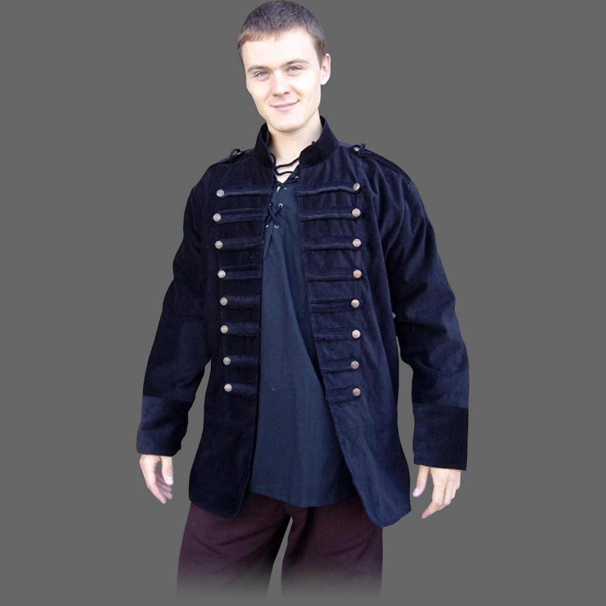 Giacca IN STILE UNIFORM-S-XXXL - 2 colori-medioevo pirati Giacca Giacca pirati Militare da05d5