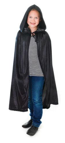 Bambino in velluto con cappuccio #Cloak Vestito Cape 88cm Nero//Blu//Pink Fancy Dress