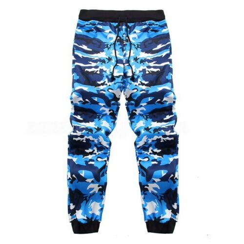 Men/'s Camo Trousers Tracksuit Jogging Jogger Casual Sweatpants Bottoms Pants NEW