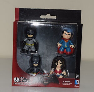 Mez-itz-Batman-v-Superman-Mini-4-Pack-Set-Wonder-Woman-Armored-Batman-2-034-NEW