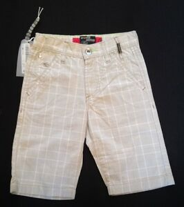 ENERGIE-BEIGE-CHECK-BOYS-SHORT-AGE-6-RRP-76-NOW-13-50