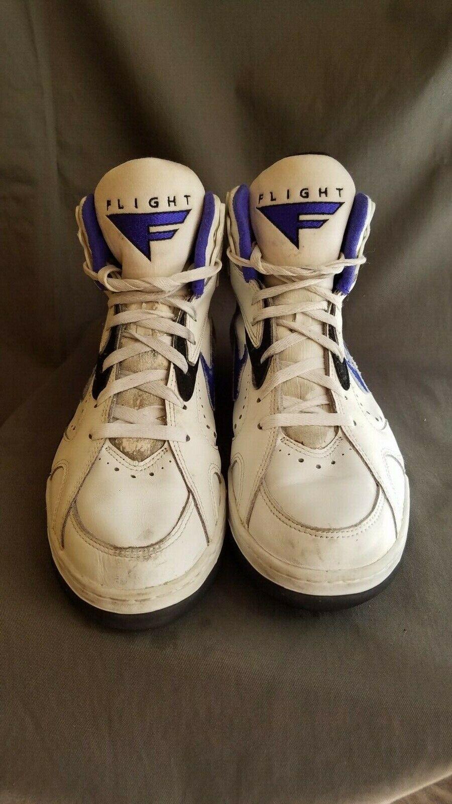 De colección para hombre blancoo 1993 NIKE FLIGHT High Top Zapatillas De Baloncesto AIR Sz-11.5