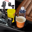 Rotatable Universal Car Seat Dual Cup Holder Drink Bottle Mount Phone Organizer