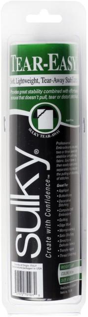 SULKY Tear-Easy stabilizzatore, 8 IN x 11 M, Bianco