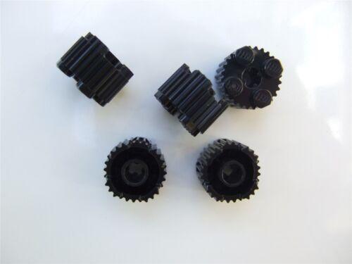 Parts /& Pieces 5 x Lego Black Profile brick 15.83 with cross 6024730