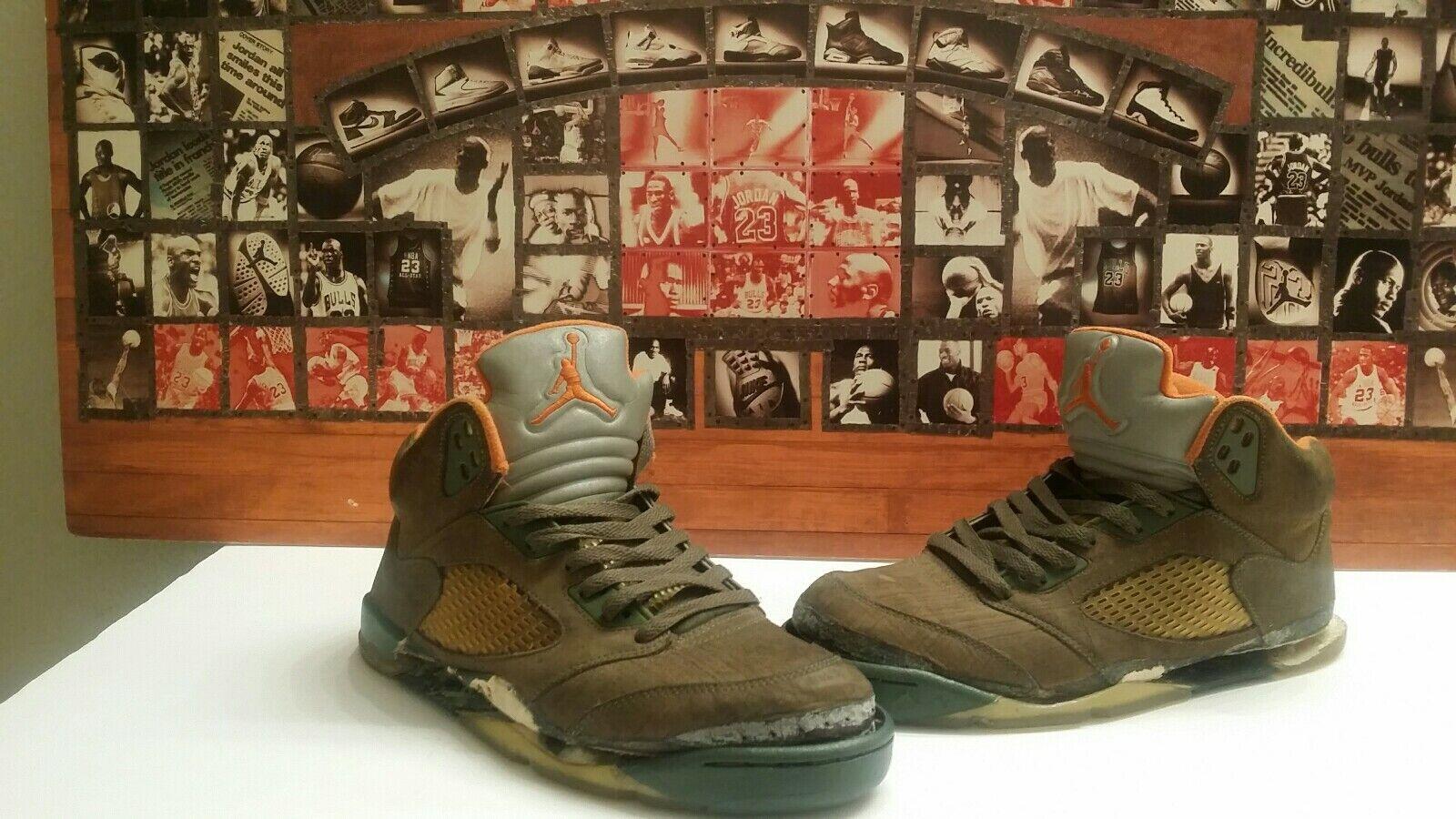 """Nike Air Jordan V 5 LS """"Olive"""" Size 9 Restoration Project"""