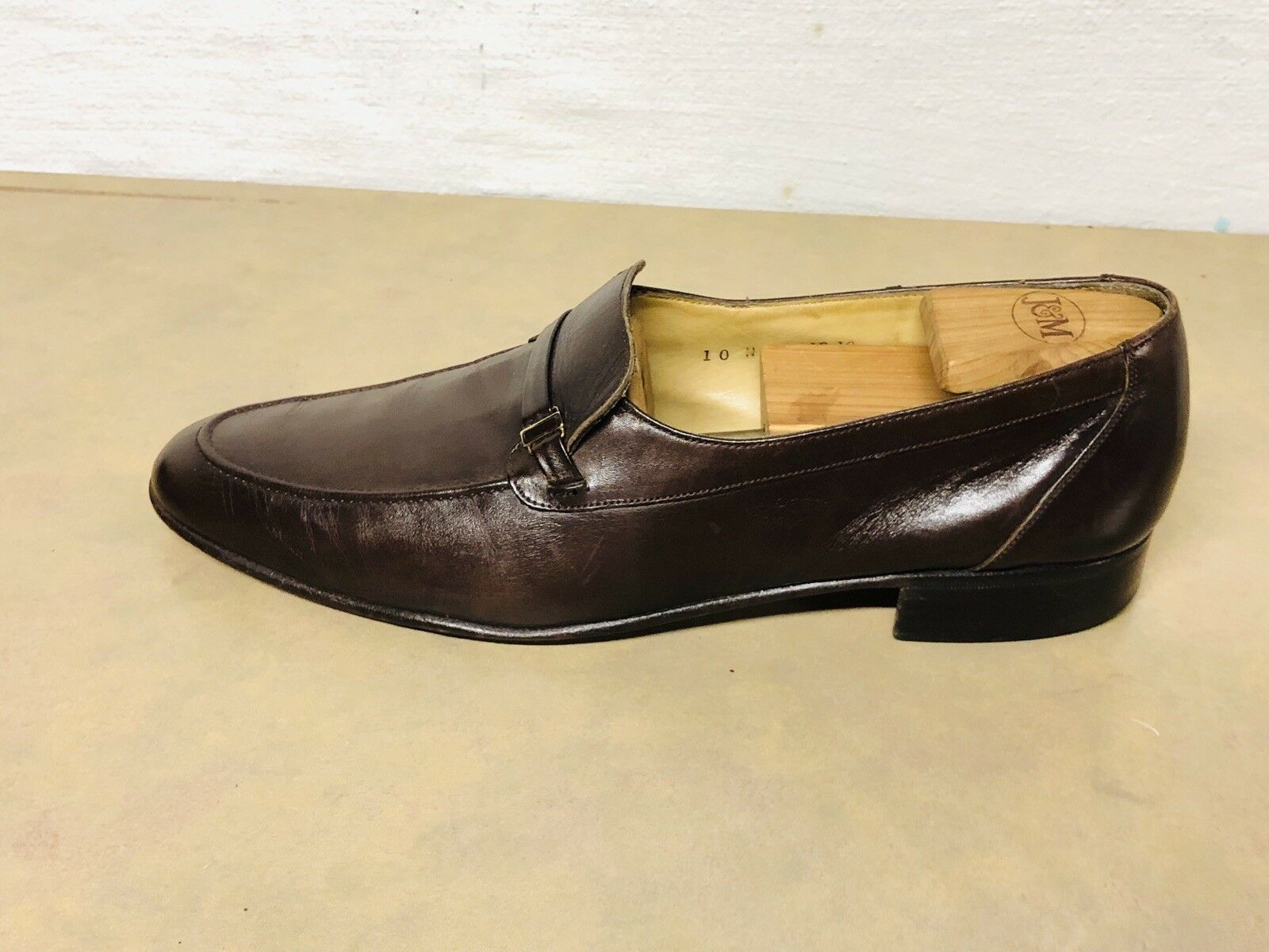 BALLY SWITZERLAND Mens Dress shoes Soft Brown Calfskin Slip On Loafer Sz Size 10