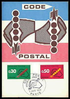Diverse Philatelie FäHig France Mk 1972 Postleitzahlen Code Postal Maximumkarte Maxi Card Mc Cm Ae64 Briefmarken
