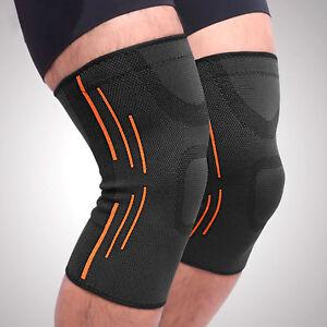 Kniebandage-Kniestuetze-Kniegelenk-Verband-Knieschoner-Sport-Bandage-Knie-Schutz