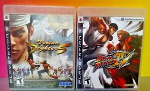 Virtua-FIghter-5-Street-Fighter-IV-Game-Lot-PS3-Sony-Playstation-3-Tested
