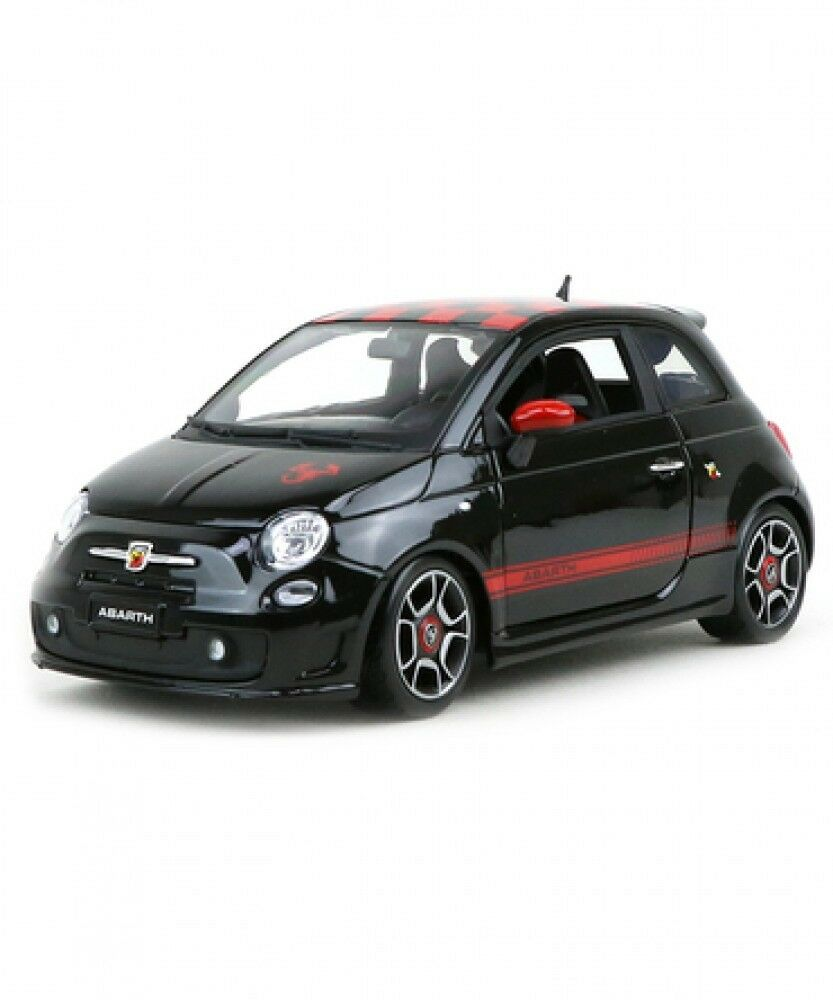 New Blago 1 18 scale Abarth 500 BR-18-12078 Black Model car Rally Driver Japan