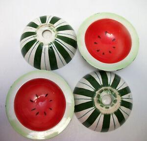 4-Holt-Howard-Watermelon-Bowls-RARE-Ceramic-1959-Mid-Century-Modern-Retro