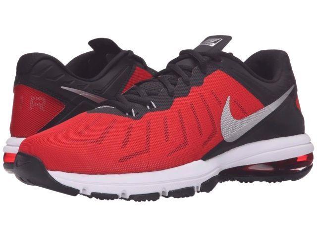 NIB Men's NIKE Air Max Full Ride TR Sneakers Shoes 819004 600 BLACK/RED