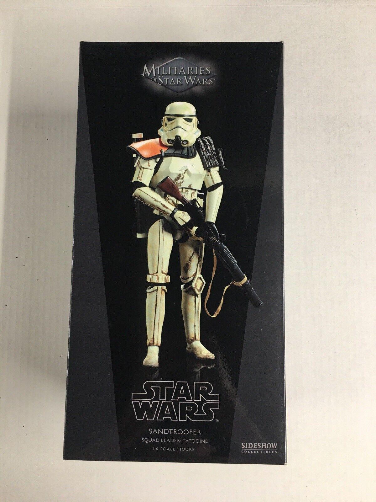 Sideshow Hot Toys Star Wars 1 6 Scale Sandtroope Squad Leader, Tatooine, NIB