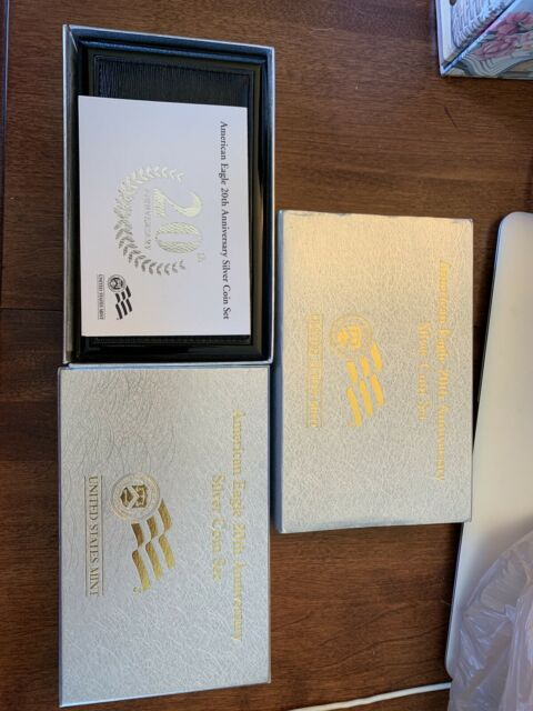 With Box /& Coa 2006 Silver American Eagle 20th Anniversary 3 Coin Set