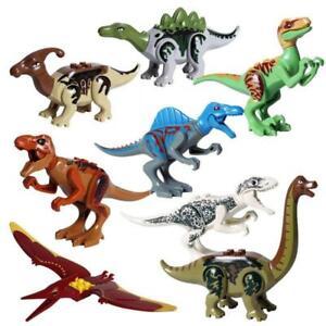 8pcs Dinosaur Building Blocks Figures Kids Education Puzzle Toys Blocks Toys