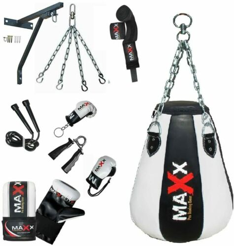 FREE CHAIN Maxx BLK// W Pear shaped maize bag punch bag wall bracket or Hook