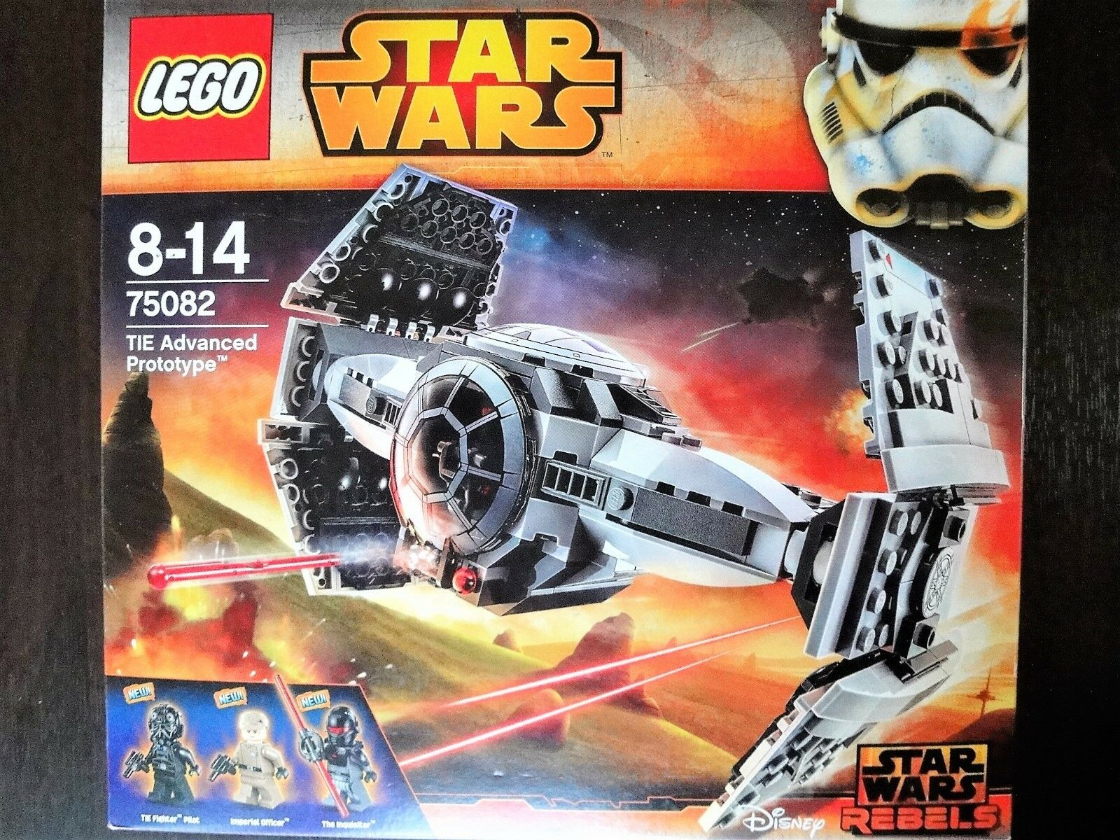 Gift  Star Wars Lego 75082 TIE Advanced Prototype MISB Retirosso Nuovo sealed