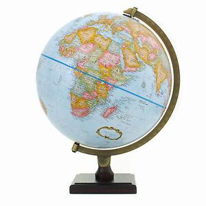 Bradley blue desktop globe world globe map geography home decor image is loading bradley blue desktop globe world globe map geography gumiabroncs Images