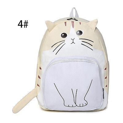 Women Girl Backpack Cute Cat Canvas School Bags Bookbag Rucksack Handbag Satchel